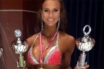 Lise Ellingsen ble norsk mester i juniorklassen i Bikini Fitness