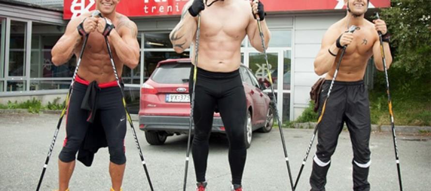 Sterke muskuløse karer i Triathlon