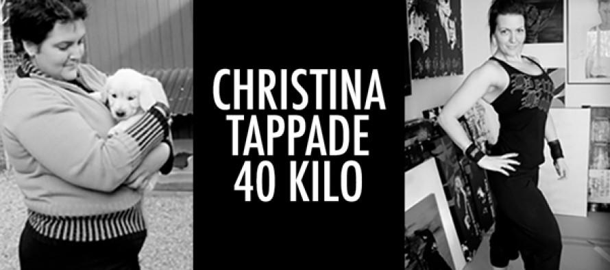 Christina gikk ned 40 kg