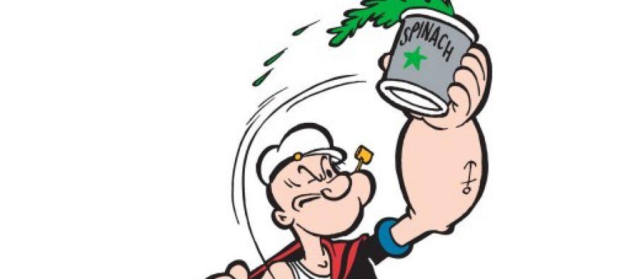 Skippern hadde rett hele tiden – Spis spinat for større muskler!